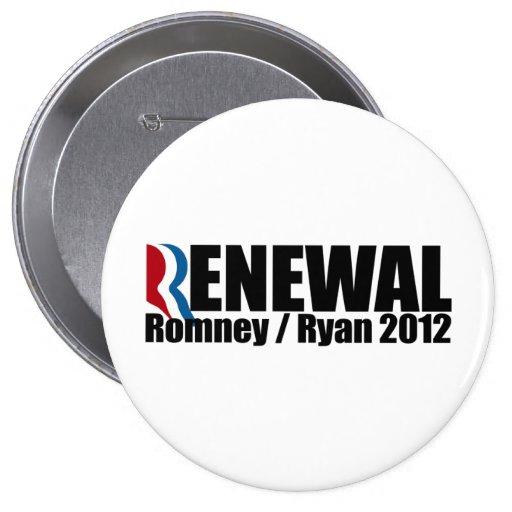ROMNEY RYAN SON RENEWAL.png Pin Redondo 10 Cm
