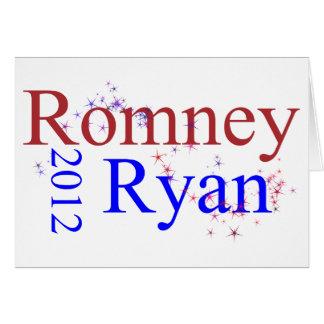Romney/Ryan Star Wave Card