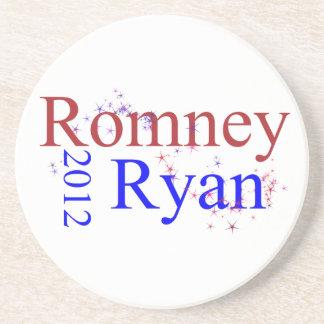 Romney Ryan Star Wave Beverage Coaster