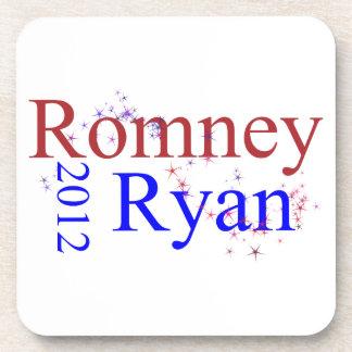 Romney Ryan Star Wave Drink Coasters