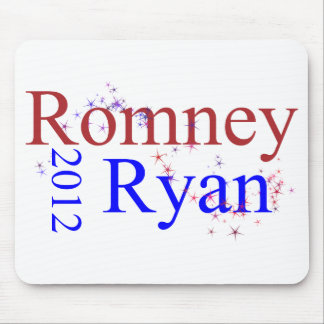 Romney/Ryan Star Wave Mouse Pad