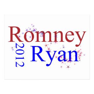 Romney/Ryan Star Wave Postcard