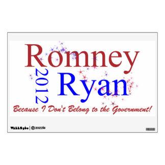 Romney Ryan Star Wave Wall Stickers