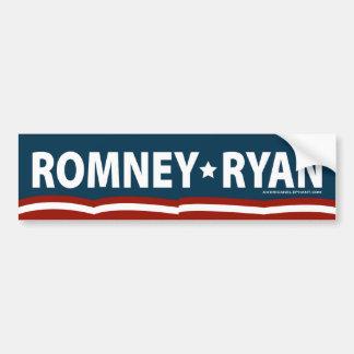 Romney-Ryan Stars and Stripes Bumper Sticker Car Bumper Sticker