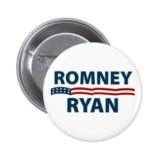 Romney Ryan Stars and Stripes Button