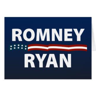 Romney Ryan Stars and Stripes Card