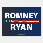Romney Ryan Stars and Stripes Yard Sign