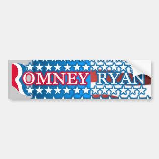 Romney Ryan Stars Bumper Sticker Car Bumper Sticker
