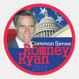 Romney Ryan Round Sticker