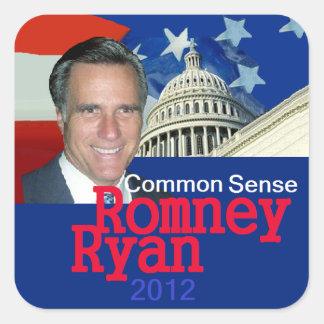 Romney Ryan Square Stickers