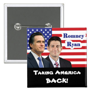 Romney Ryan - Taking America Back! Buttons