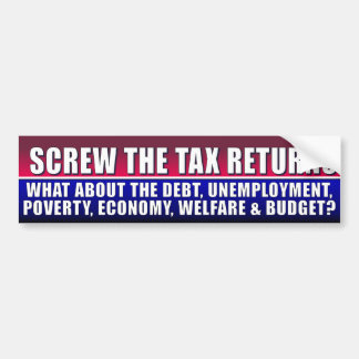 Romney - Ryan- Tax Returns - Anti Obama Bumper Sticker