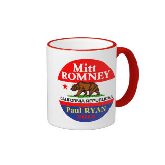 Romney Ryan Taza A Dos Colores