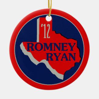 Romney Ryan TEXAS Ceramic Ornament