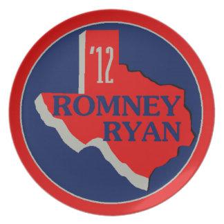 Romney Ryan TEXAS Dinner Plate