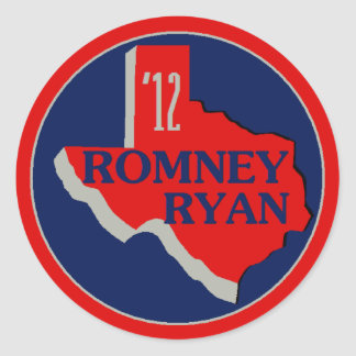 Romney Ryan TEXAS Sticker