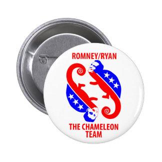 Romney Ryan the Chameleon Team Buttons