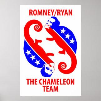 Romney Ryan, the Chameleon Team Poster