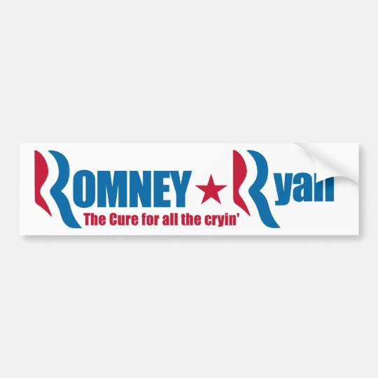 Romney - Ryan- The Cure for all the cryin' Bumper Sticker