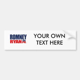ROMNEY RYAN TICKET 2012.png Bumper Sticker