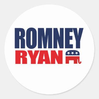 ROMNEY RYAN TICKET 2012.png Classic Round Sticker