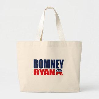 ROMNEY RYAN TICKET 2012.png Large Tote Bag