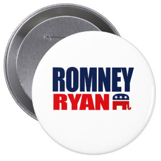 ROMNEY RYAN TICKET 2012.png Pinback Button