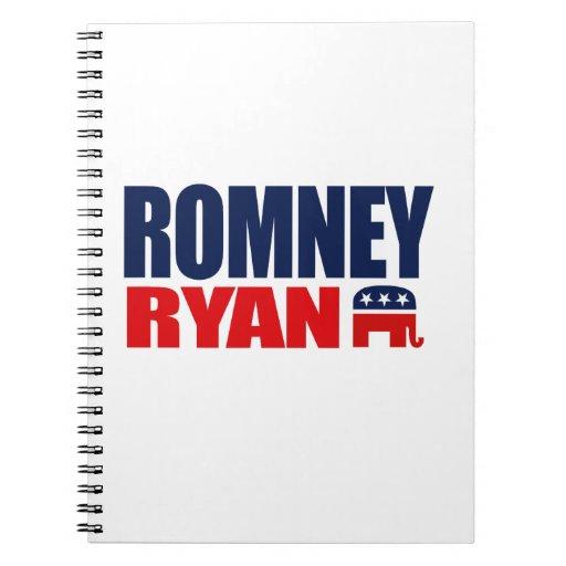 ROMNEY RYAN TICKET 2012.png Spiral Notebook