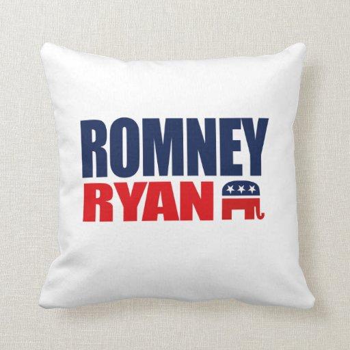 ROMNEY RYAN TICKET 2012.png Throw Pillows