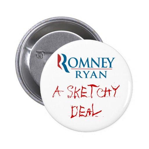 Romney/Ryan: Un trato incompleto Pin Redondo 5 Cm