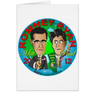 Romney Ryan USA Card
