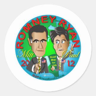 Romney Ryan USA Classic Round Sticker