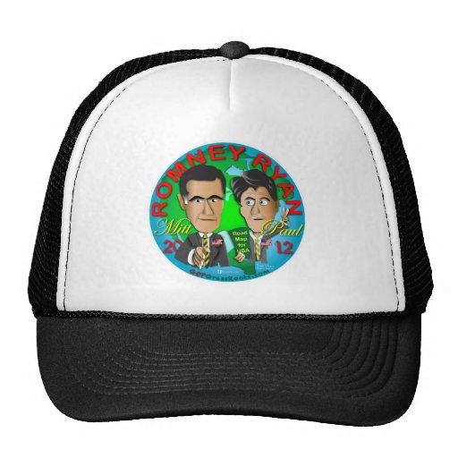 Romney Ryan USA Mesh Hats