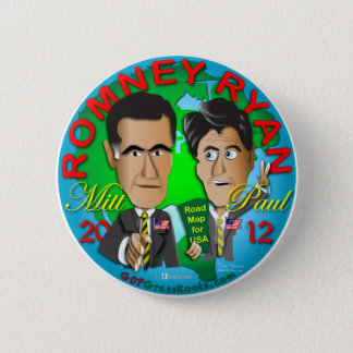 Romney Ryan USA Pinback Button