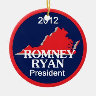 Romney Ryan VIRGINIA Ceramic Ornament