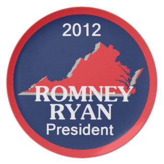 Romney Ryan VIRGINIA Plato De Cena