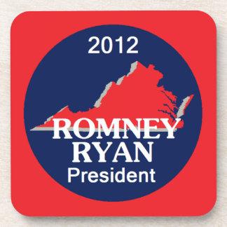 Romney Ryan VIRGINIA Posavasos De Bebidas