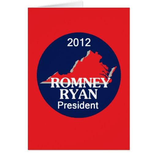 Romney Ryan VIRGINIA Tarjeton