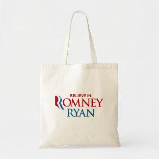 ROMNEY RYAN VP BELIEVE png Canvas Bags