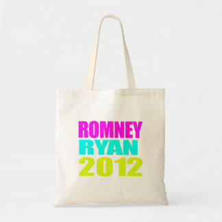 ROMNEY RYAN VP NEON IMPACT png Canvas Bags