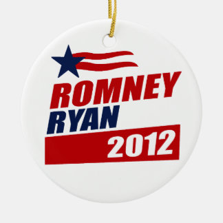 ROMNEY RYAN VP STAR BANNER.png Double-Sided Ceramic Round Christmas Ornament