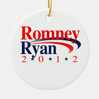 ROMNEY RYAN VP SWEEP.png Double-Sided Ceramic Round Christmas Ornament