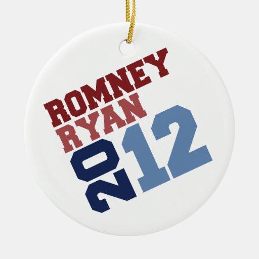 ROMNEY RYAN VP TILT.png Christmas Tree Ornaments