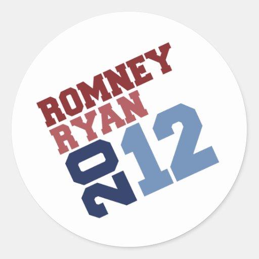 ROMNEY RYAN VP TILT.png Classic Round Sticker