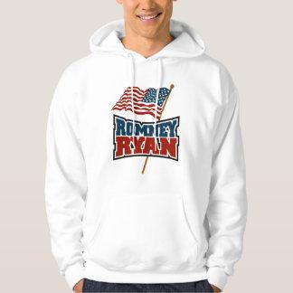 Romney Ryan Waving Flag Hoodie