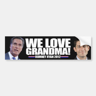 Romney - Ryan - We Love Grandma Bumper Sticker