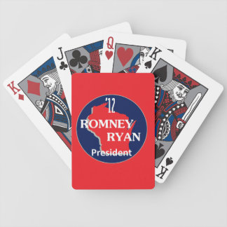 Romney Ryan WISCONSIN Bicycle Playing Cards
