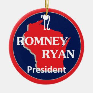 Romney Ryan WISCONSIN Ceramic Ornament