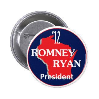 Romney Ryan WISCONSIN Pin
