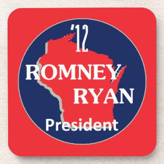 Romney Ryan WISCONSIN Posavasos De Bebidas